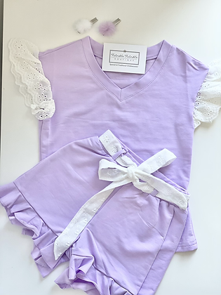 Girls Shorts set - LILAC