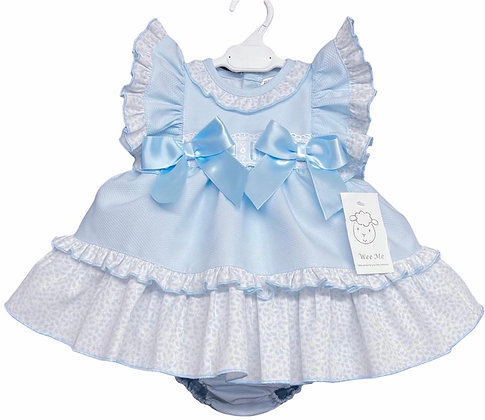 Baby Girls Puffball  Dress & Pants set - BLUE