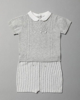 Baby Boys Grey Summer Knit Set