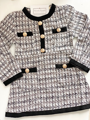 Girls Gold buttoned Dress 3y-14yrs