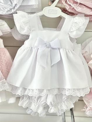 Girls White Dress Set 3m - 24m