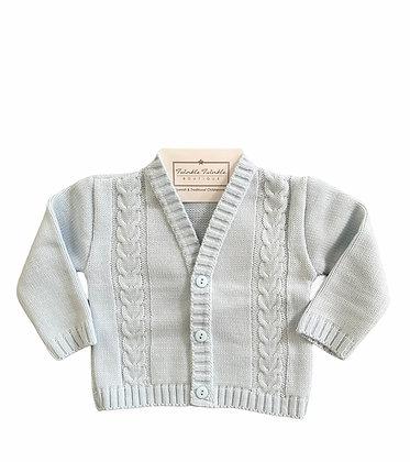 Boys Knit Cardigan - BABY BLUE