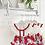 Thumbnail: Girls Red Detail Skirted Bloomer Set - RED