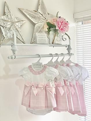 Baby Girls Pink Dress & Pant Set