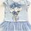 Thumbnail: Caramelo - Girls Flower Bouquet Legging Set- BLUE