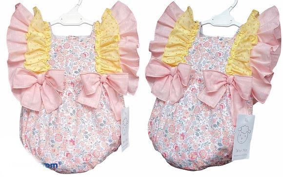 Baby Girls Pink & Lemon Floral Romper