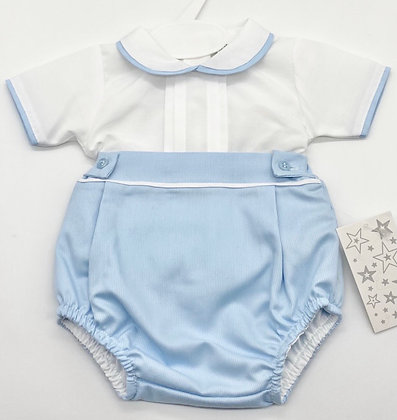 Boys shirt  set 1m- 18m  - WHITE /BLUE