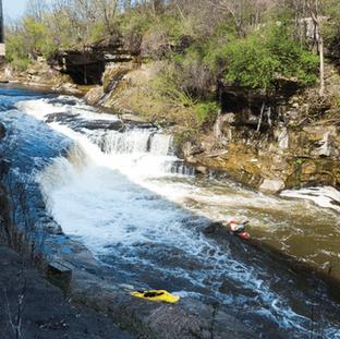 Kayaking on Cuyahoga River
