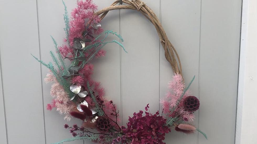 Magically modern wreath.