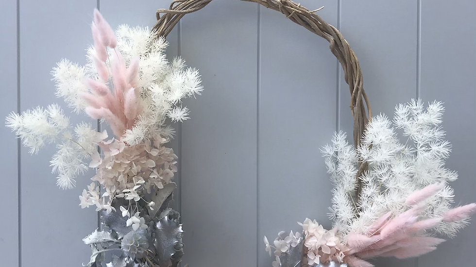 Wildly whimsical Christmas wreath