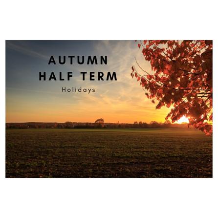 Autumn Break......