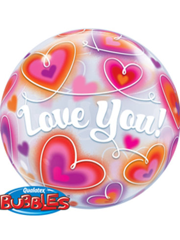 "Bubble Balloon ""Love you"" / Globo Bubble ""Love You"""