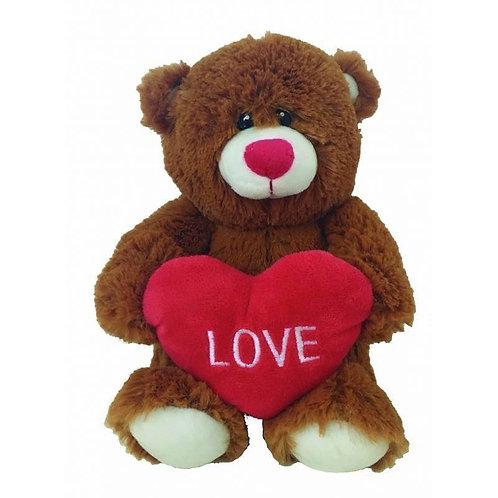"Love Brown Teddy Bear / Peluche Osito marrón ""Love"""
