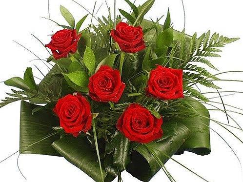 Bouquet of 6 Roses / Ramo de 6 rosas rojas