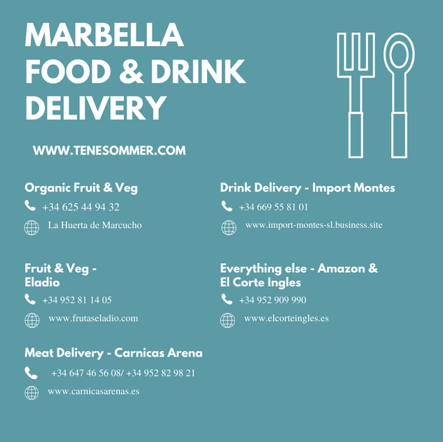 Marbella Delivery Food Drinks Tene Somme
