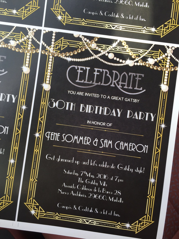 30th Gatsby Party in Marbella #1: The Location & Decoration ...