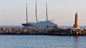 The largest sailing yacht in the world worth £360 million spotted in Puerto Banus, Marbella
