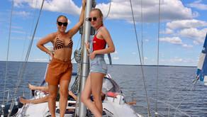 A day on a sailing boat in Pärnu, Estonia!