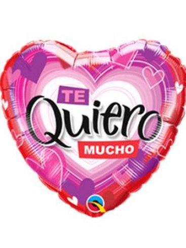 """Foil Heart """"Te quiero mucho"""" / Globo de corazón """"Te quiero mucho"""""""
