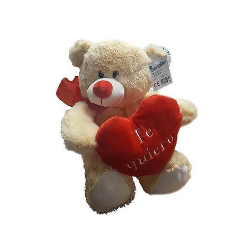 """Te Quiero Cream Teddy Bear / Peluche Ositocrema """"Te Quiero"""""""