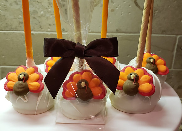 Cake Pop-Thanksgiving Turkey pop-6pk