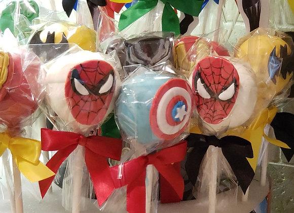 Cake Pop-Hero Inspired -PartyPak-12