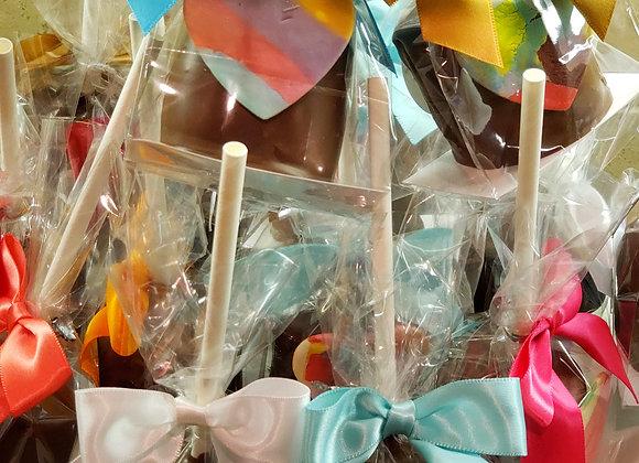 Jumbo Marshmallow Pop-Big HeArt-PartyPak 18