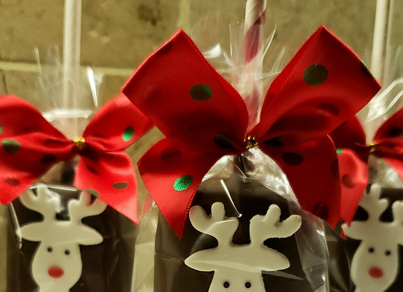 Jumbo Marshmallow Pops-Holiday Prancer Pops-6pk
