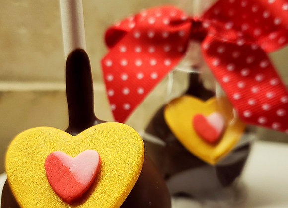 Cake Pops-HeArts of Gold-6pk