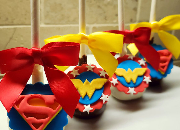 Cake Pop-SuperHero-Inspired-6pk