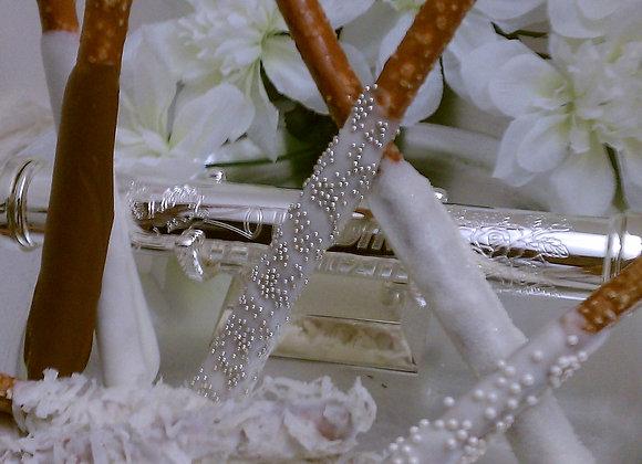 Gourmet Pretzel Rods-Wedding I Do-PartyPak-24