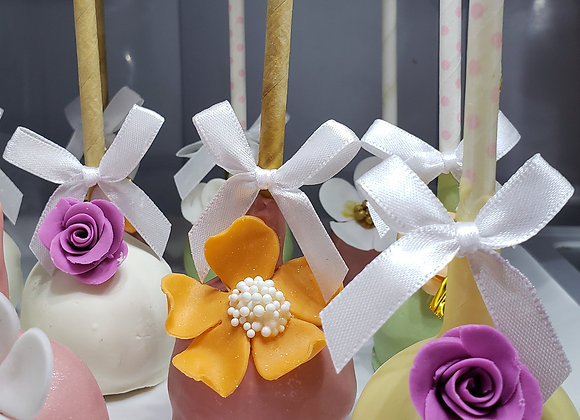 Cake Pop-Fancy Flower Bouquet- Assorted -6pk