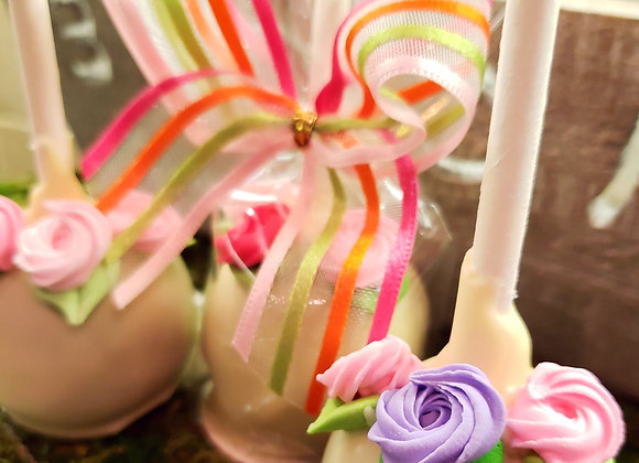 Cake Pop- Mother's Day Rose-6pk