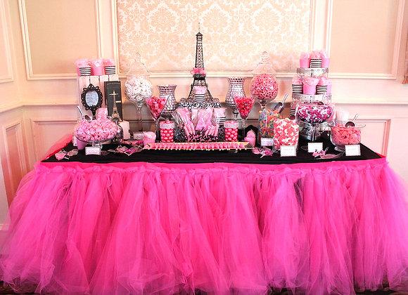 Custom Candy/Dessert Table- Pink Parisan-Medium