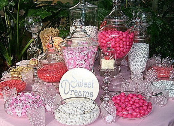 Custom Candy / Dessert Table - Pretty in Pink- Medium