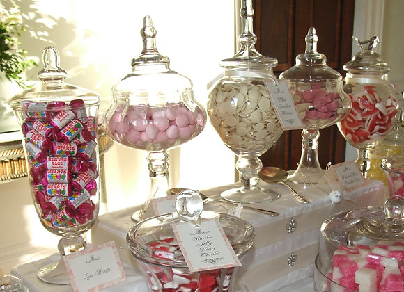 Custom Candy/ Dessert  Buffet Table- Old Tyme -Small