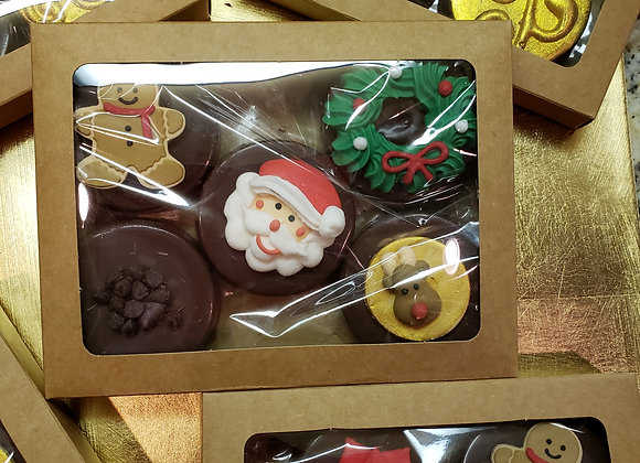 Chocolate Dipped Cookie-Holiday Cheer-Oreo-Gift Box -5pk