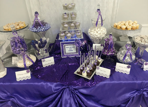 Custom Candy/ Dessert Table - Purple Passion -Medium