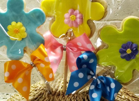 Cookie Pop-Fancy Flower -Vanilla Sugar 3pk