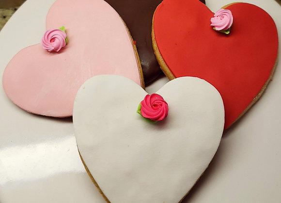 Big Heart Cookies-Sweet Hearts & Roses-Vanilla Sugar-4pk