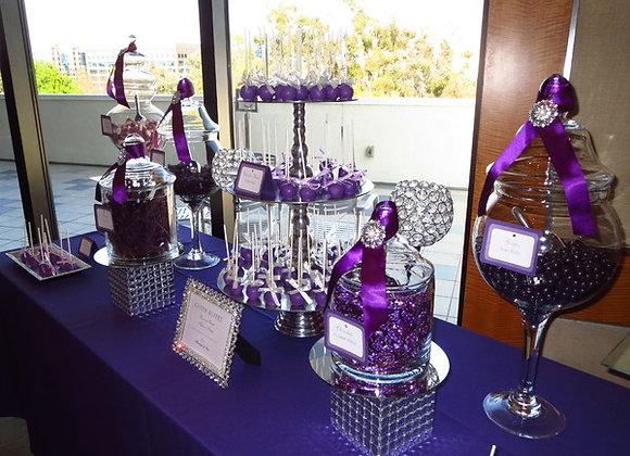 Custom Candy /Dessert Table - Purple Rain-Small