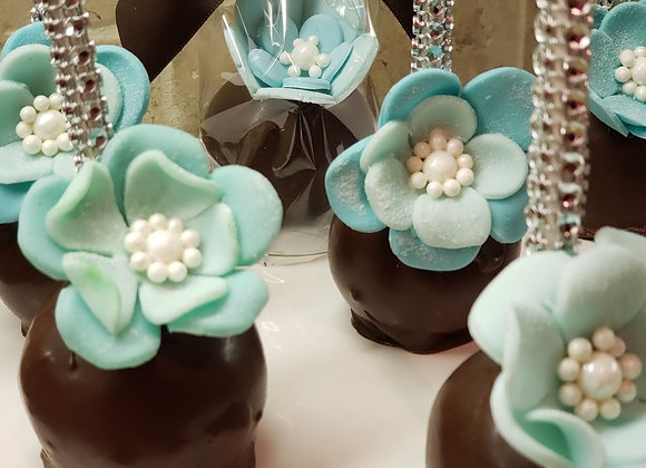 Cake Pops- Blue Blossom Bling-6pk