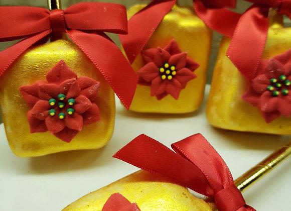 Marshmallow Pop-Holiday Golden Poinsettia-mini-6pk