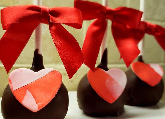 Cake Pop-Share the Love-HeArt-XOXO-6pk