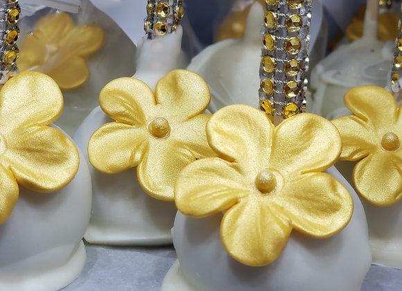Cake Pop-Gold Blossom Bling-6pk