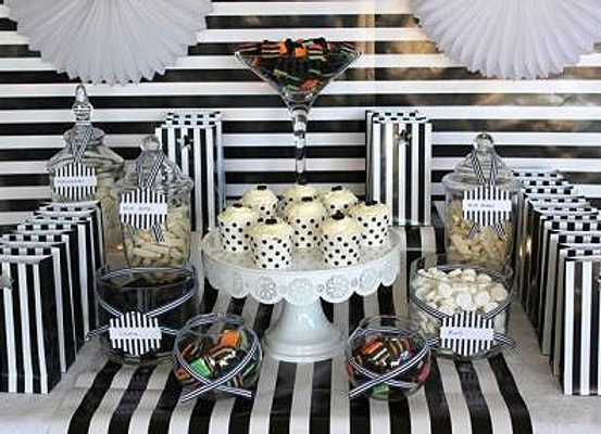 Custom Candy/ Dessert  Table-Dots and Stripes -Mini