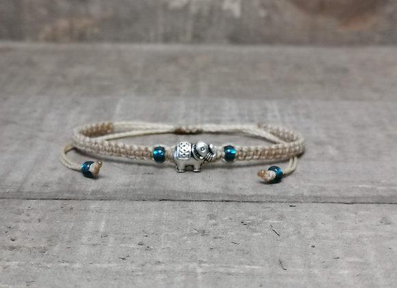 Antique Silver Elephant Bracelet