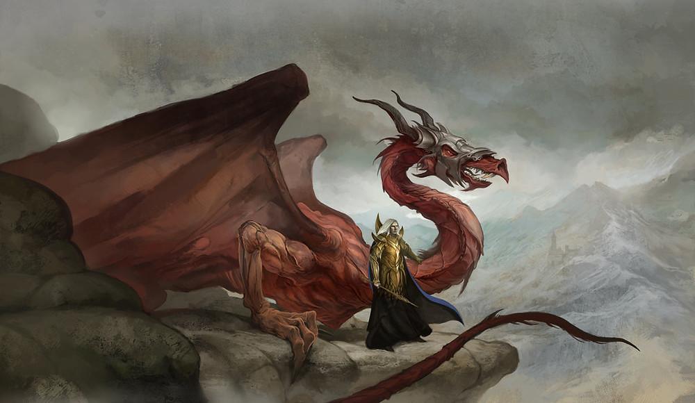 Dragons Reign Cover Art by Jon Hodgson