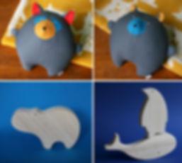 studio, handmade soft toys, plushies,