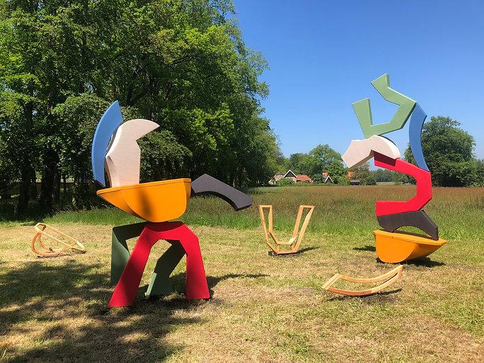 Vrij spel, textiel festival Twente, landgoed Twickel